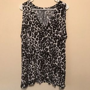 Lane Bryant Printed Sleeveless Top
